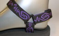barevné sportovní sandále Jola / pásky fialová pružina