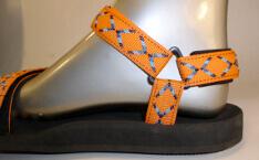 dámské sandále Jola / pásky oranžové kříže